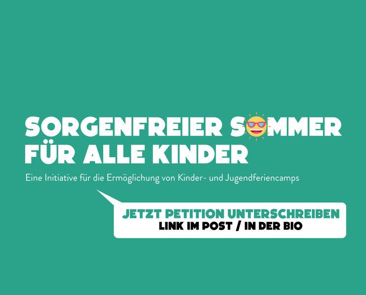 Petition: Wir wollen auf Sommerlager fahren!